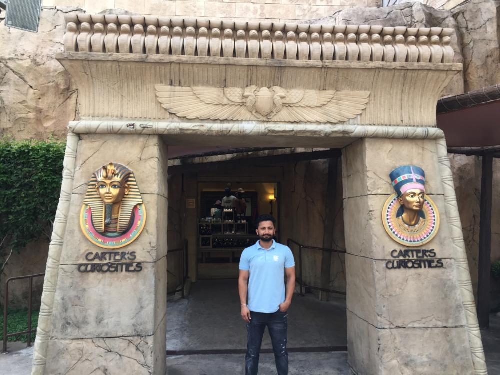 Atinder S Gill at Universal Studios